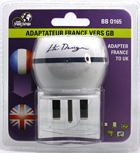 Design Go Uk To Europe Double Adapter Adapter Types C Or F Aten Ps2 To Usb Adapter Samsung Type C Otg Adapter: Achat Adaptateur De Voyage France Vers Grande Bretagne GB