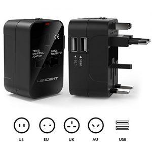 Adaptateur-de-Voyage-LENCENT-Adaptateur-Universel-Prise-Anglaise-Europe-Americaine-Australie-Prises-de-Voyage-Internationale-Adaptateur-Chargeur-avec-2-Prise-USB-pour-plus-de-150-pays-0