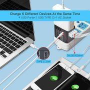Evershop-Adaptateur-de-Voyage-Universel-pour-US-UK-Europe-et-Plus-de-150-Pays-Chargeur-de-Voyage-avec-4-Ports-USB-et-Le-Type-C-Prise-Internationale-avec-56-A-Smart-Power-USB-et-30-A-USB-Type-C-0-0
