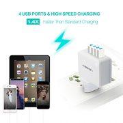 LENCENT-Chargeur-USB-Multiple-4-Ports-Prise-USB-Secteur-Internationale-5V44A-Adaptateur-Prise-AnglaiseEuropeAmericaineAustralie-avec-Technologie-Smart-IC-pour-iPhone-iPad-Smartphones-et-Plus-0-0