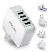 LENCENT-Chargeur-USB-Multiple-4-Ports-Prise-USB-Secteur-Internationale-5V44A-Adaptateur-Prise-AnglaiseEuropeAmericaineAustralie-avec-Technologie-Smart-IC-pour-iPhone-iPad-Smartphones-et-Plus-0