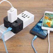Adaptateur-de-Voyage-Adaptateur-Universel-Prise-pour-AnglaiseAmericaineEuropeAustralie-Plus-de-150-Pays-Adaptateur-Chargeur-avec-2-Ports-USB-Multifonction-Noir-0-1