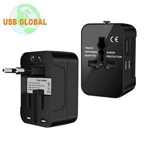 Adaptateur-de-Voyage-Adaptateur-Universel-Prise-pour-AnglaiseAmericaineEuropeAustralie-Plus-de-150-Pays-Adaptateur-Chargeur-avec-2-Ports-USB-Multifonction-Noir-0
