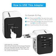iVoler-Garantie--Vie-Adaptateur-de-Voyage-avec-2-USB-Adaptateur-Universel-Pris-de-Courant-pour-UEUSUKAUS-Utilis-dans-Plus-de-150-Pays-Adaptateur-Chargeur-Blanc-0-1