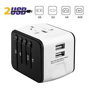 iVoler-Garantie--Vie-Adaptateur-de-Voyage-avec-2-USB-Adaptateur-Universel-Pris-de-Courant-pour-UEUSUKAUS-Utilis-dans-Plus-de-150-Pays-Adaptateur-Chargeur-Blanc-0