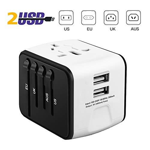 iVoler-Garantie–Vie-Adaptateur-de-Voyage-avec-2-USB-Adaptateur-Universel-Pris-de-Courant-pour-UEUSUKAUS-Utilis-dans-Plus-de-150-Pays-Adaptateur-Chargeur-Blanc-0
