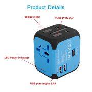 VGUARD-Voyage-Adaptateur-International-et-2-USB-5V-24A-Adapteur-Chargeur-vers-Prise-Anglaise-pour-Americaine-UK-AUS-EU-150-Pays-Incluant-Un-Cble-2-en-1-Cble-Micro-USB-Type-C-Bleu-0-0