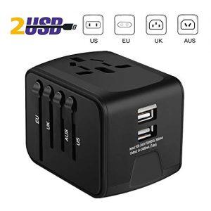 iVoler-Garantie--Vie-Adaptateur-de-Voyage-avec-2-USB-Adaptateur-Universel-Pris-de-Courant-pour-UEUSUKAUS-Utilis-dans-Plus-de-150-Pays-Adaptateur-Chargeur-Noir-0