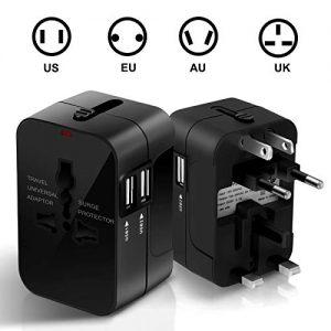 SURWELL-Adaptateur-de-Voyage-Chargeur-Convertisseur-Prise-Universel-avec-2-Ports-USB-Multifonction-pour-UK-US-DE-EU-CN-environ-180-Pays-Noir-0